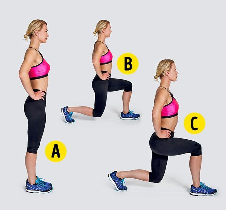 4-minútové cvičenie - Výpady
