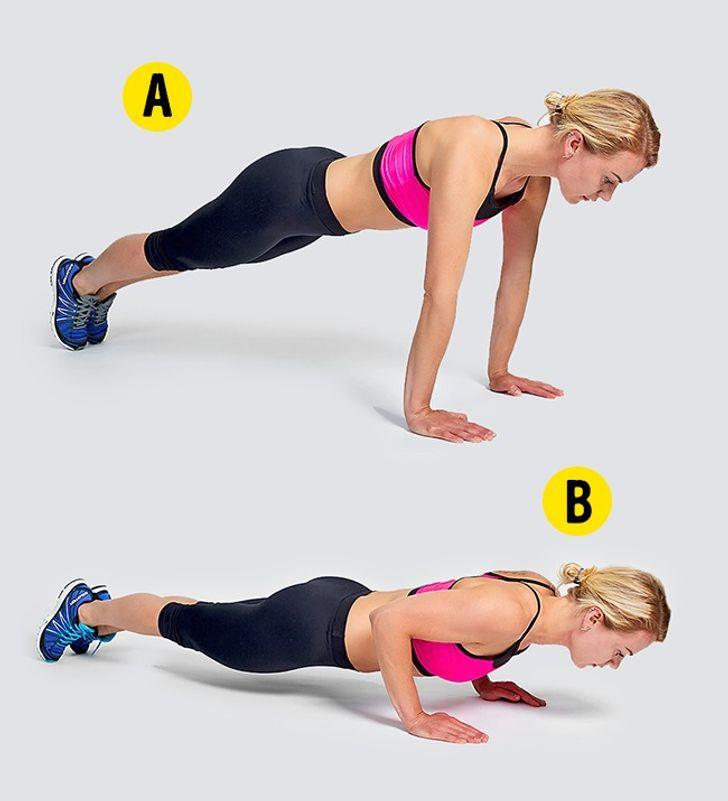 4-minútové cvičenie - Kliky
