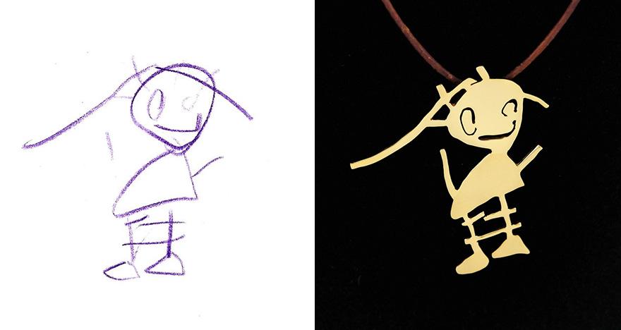 Šperky podľa detských kresieb.